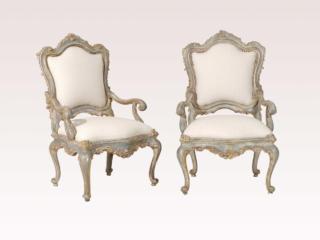 Venetian Style Gilded Armchairs