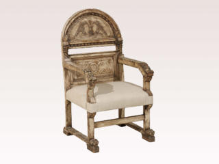 Italian 19th C. Carved Chair
