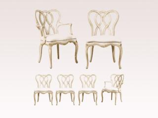 Set of 6 Venetian Style Chairs