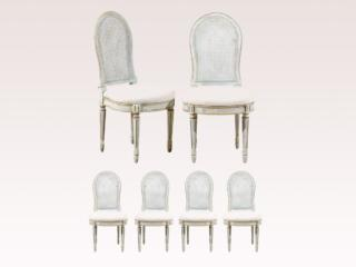 Set of Six Balloon Back Chairs