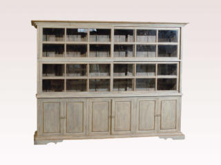Sliding Glass Door Wooden Cabinet