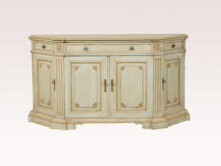 Four-Door Painted Wood Credenza