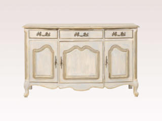 Serpentine Painted Wood Buffet