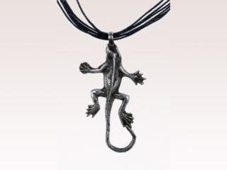 Moroccan Silver Gecko Necklace