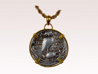 Athenian Owl Coin Pendant