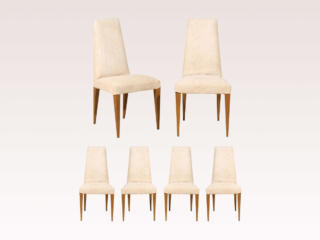 Set of 6 Slipcover Side Chairs
