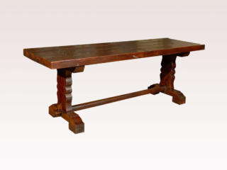 French Wood Trestle Library Table