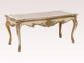 A French Mirror Top Coffee Table