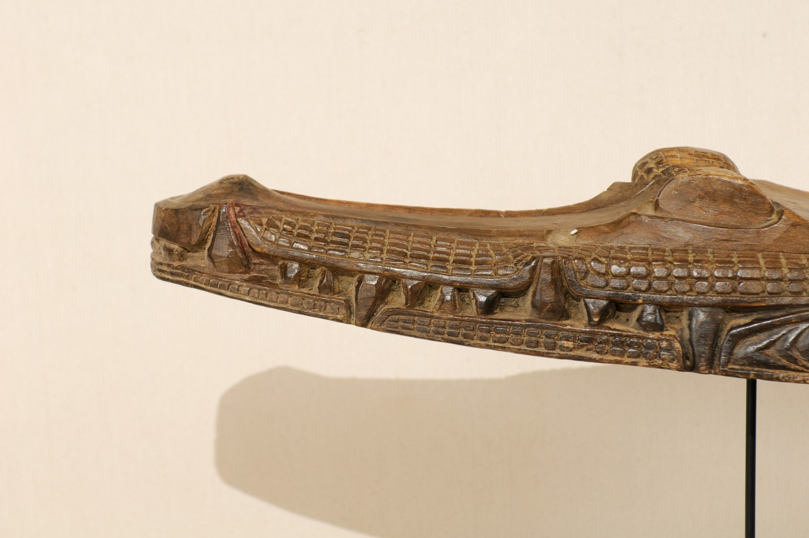 Carved Wood Crocodile Boat Prow 1395 A Tyner Antiques