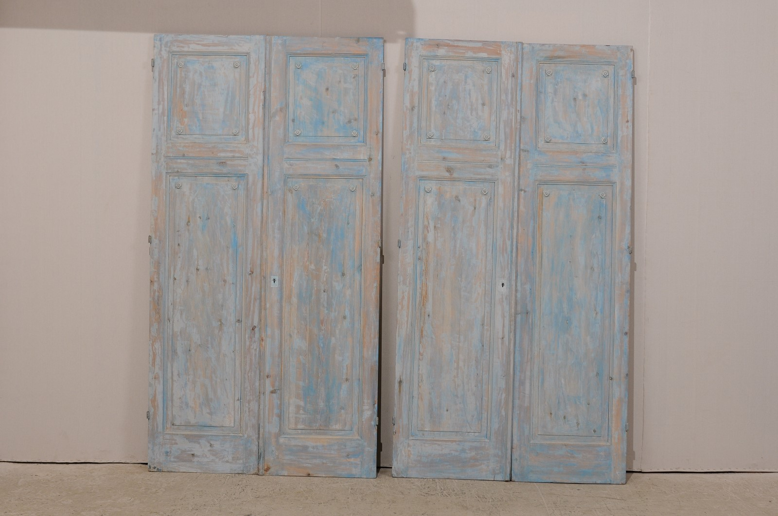 Two Pairs French Wooden Doors 1428 A Tyner Antiques