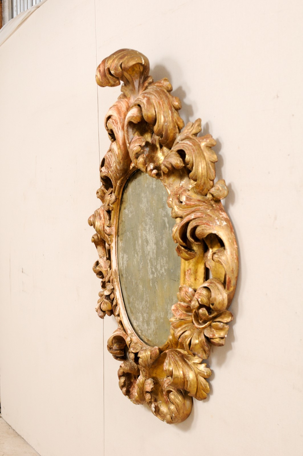 Elaborate Italian 18th C Mirror 1624 A Tyner Antiques