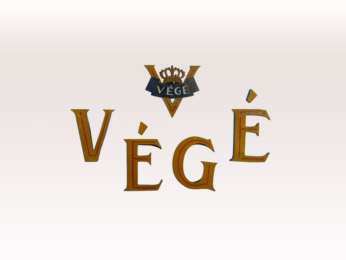 """Végé"" Letters and Logo Wall Sign"