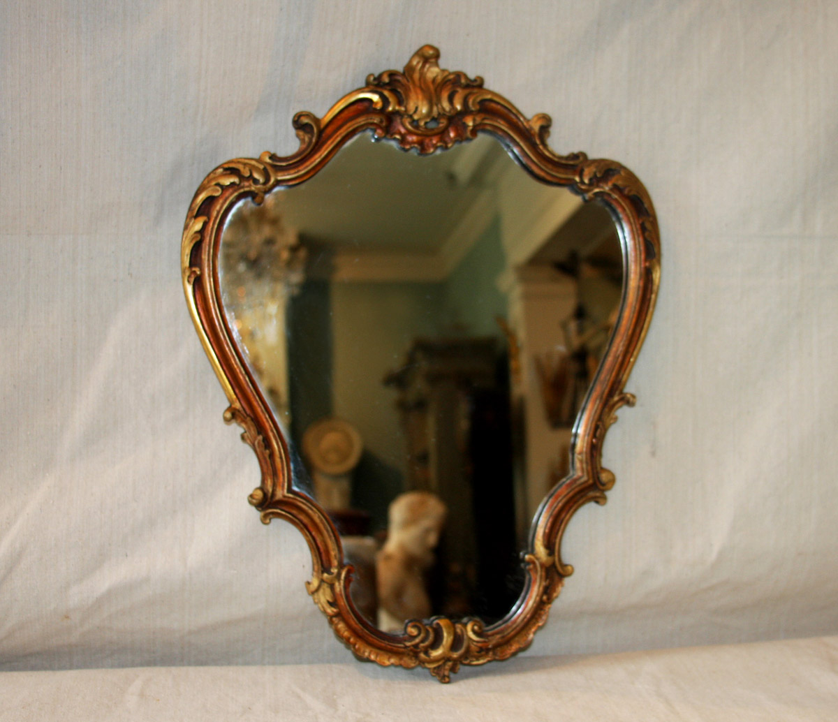 Small French Louis XV Style Gilt Mirror