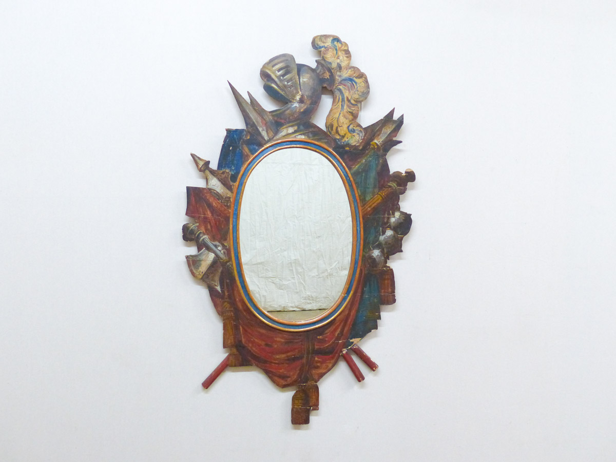 "Mirror ""Knight in Armor"", 19th C. Sweden"