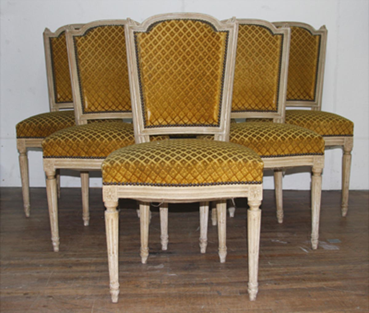 Set of 6 French Louis XVI Style Chairs