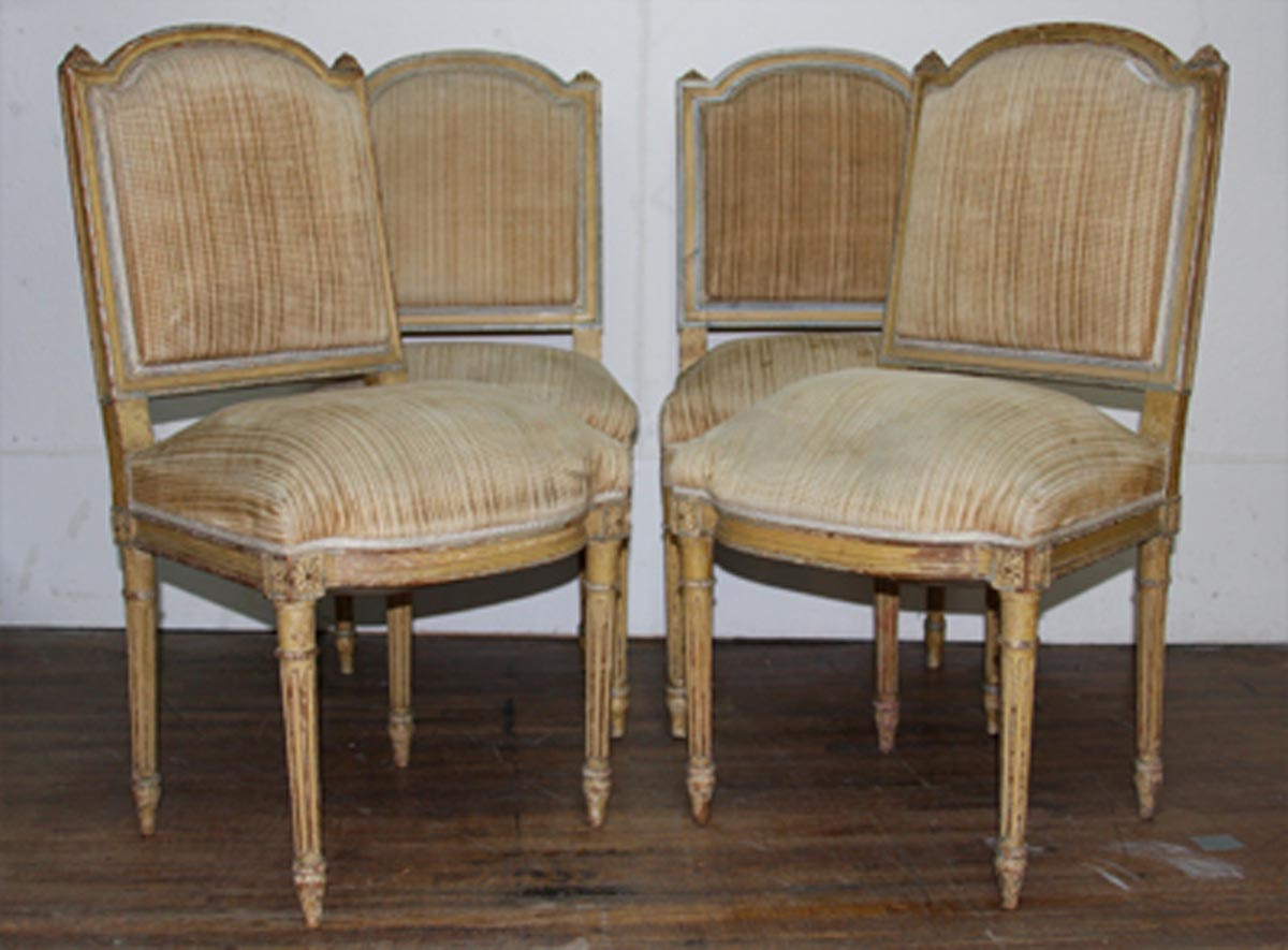 Set of Four French Antique Side Chairs