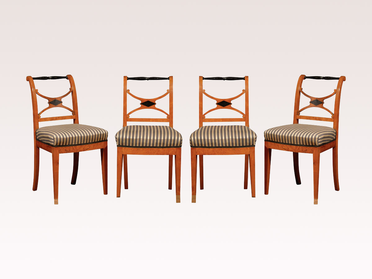 Set of 19th C. Karl Johan Chairs, Sweden