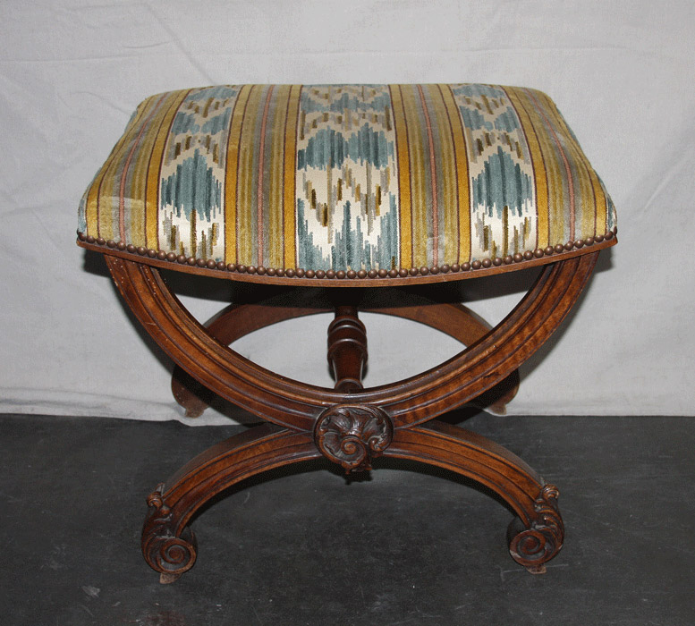Antique French Dante Style Stool