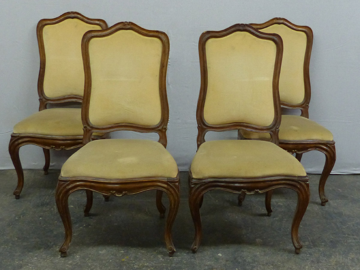 Set of Four 19th C. Italian Side Chairs