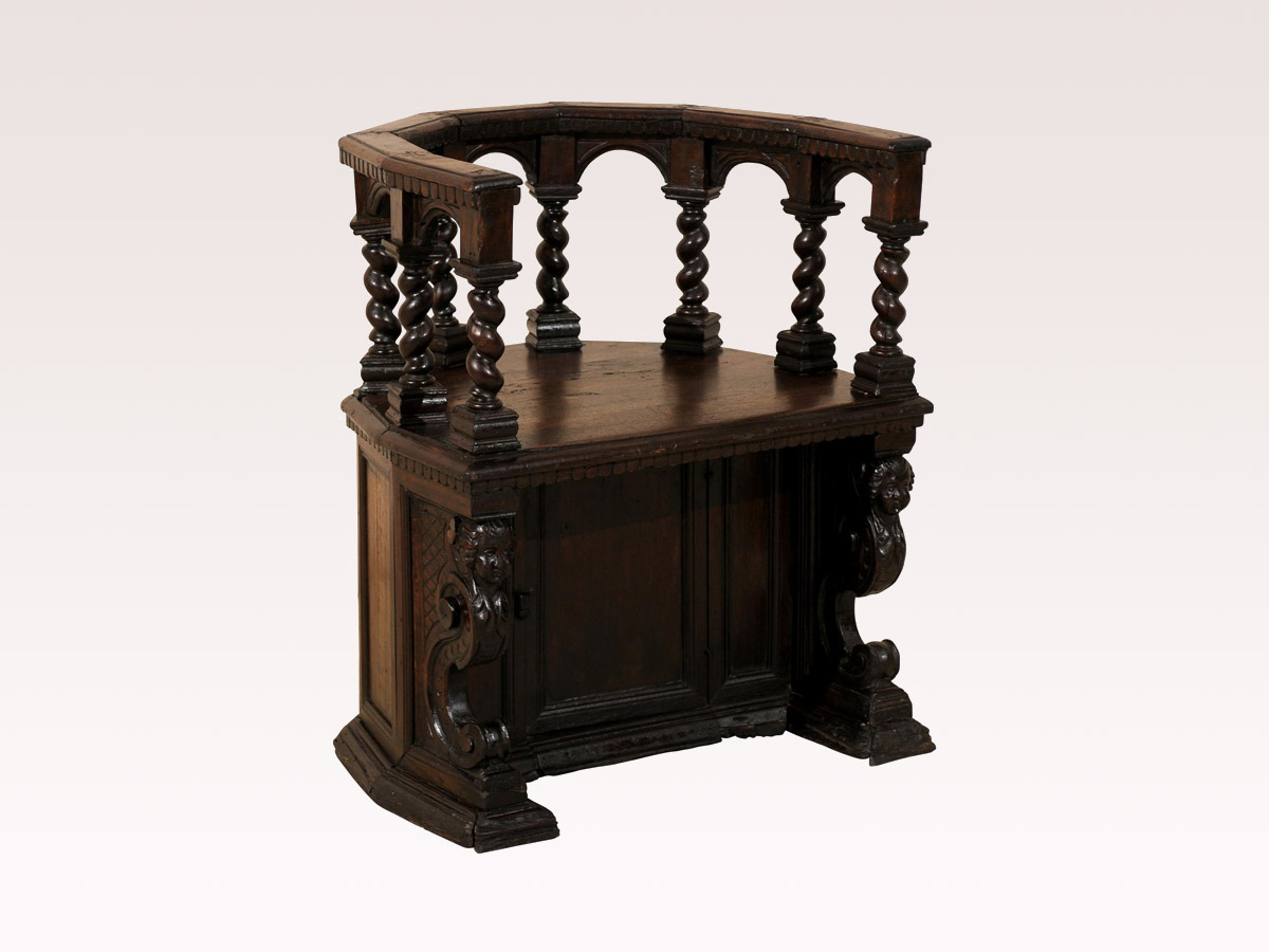 Italian Carved Roundabout Chair