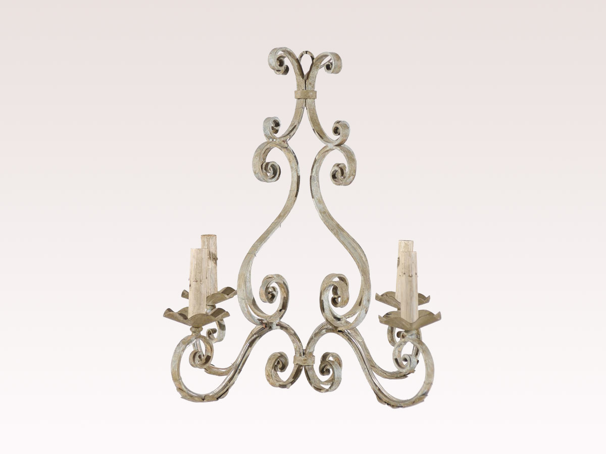 French 4-Light Iron Chandelier