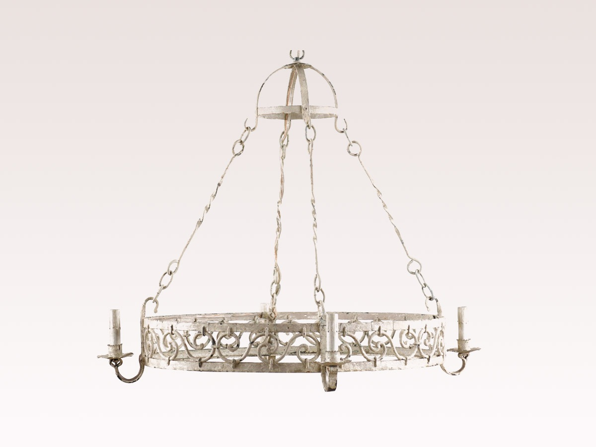 French Oval Vintage Chandelier