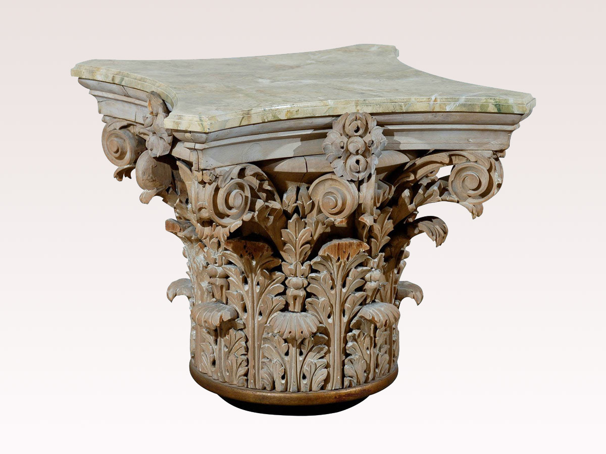 Corinthian Capital Drinks Table