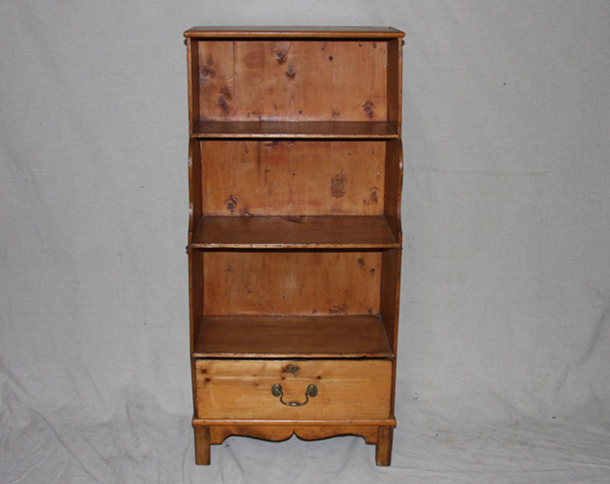 Small English Cabinet w/Shelves & Drawer