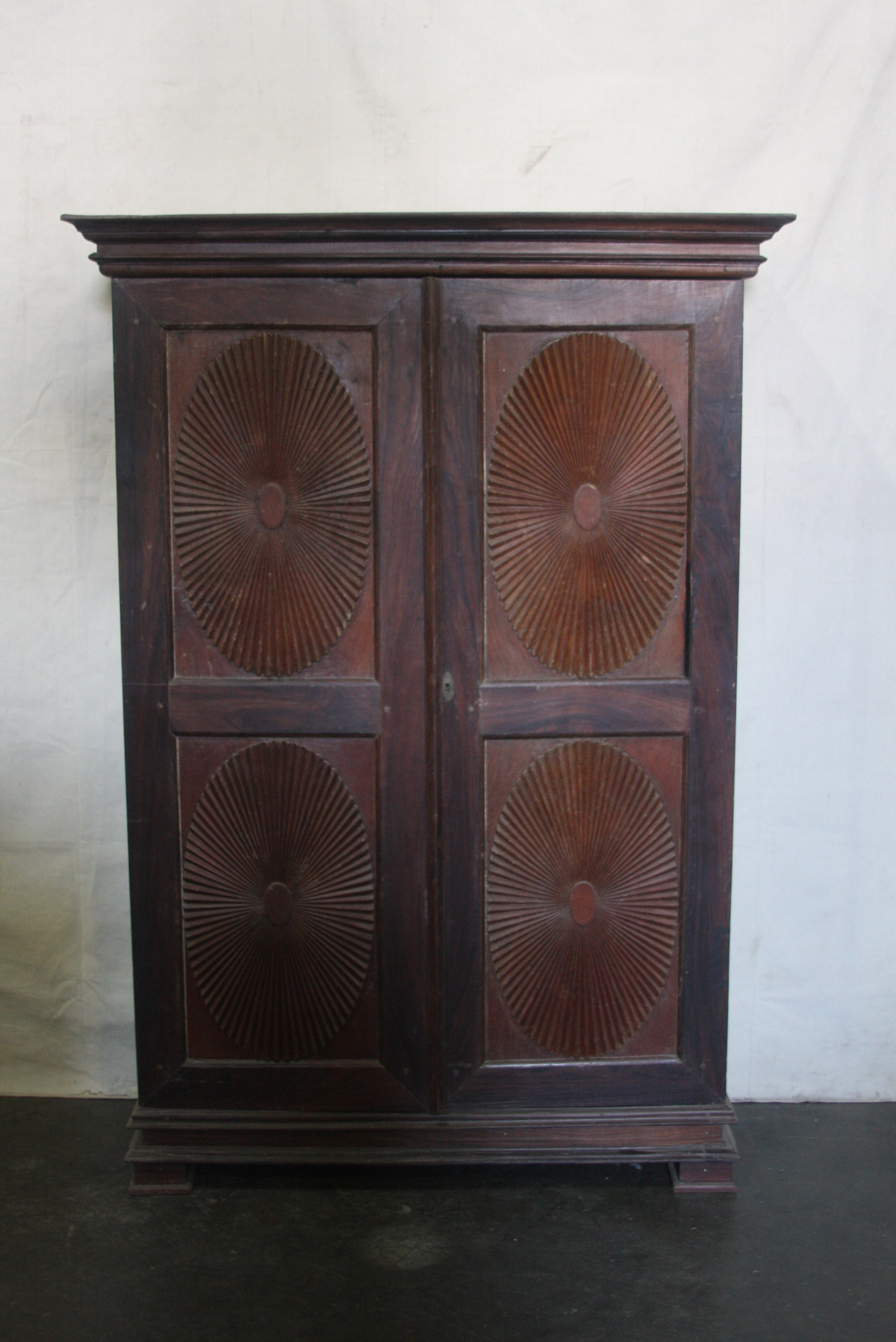 A Two-Door British Colonial Cabinet