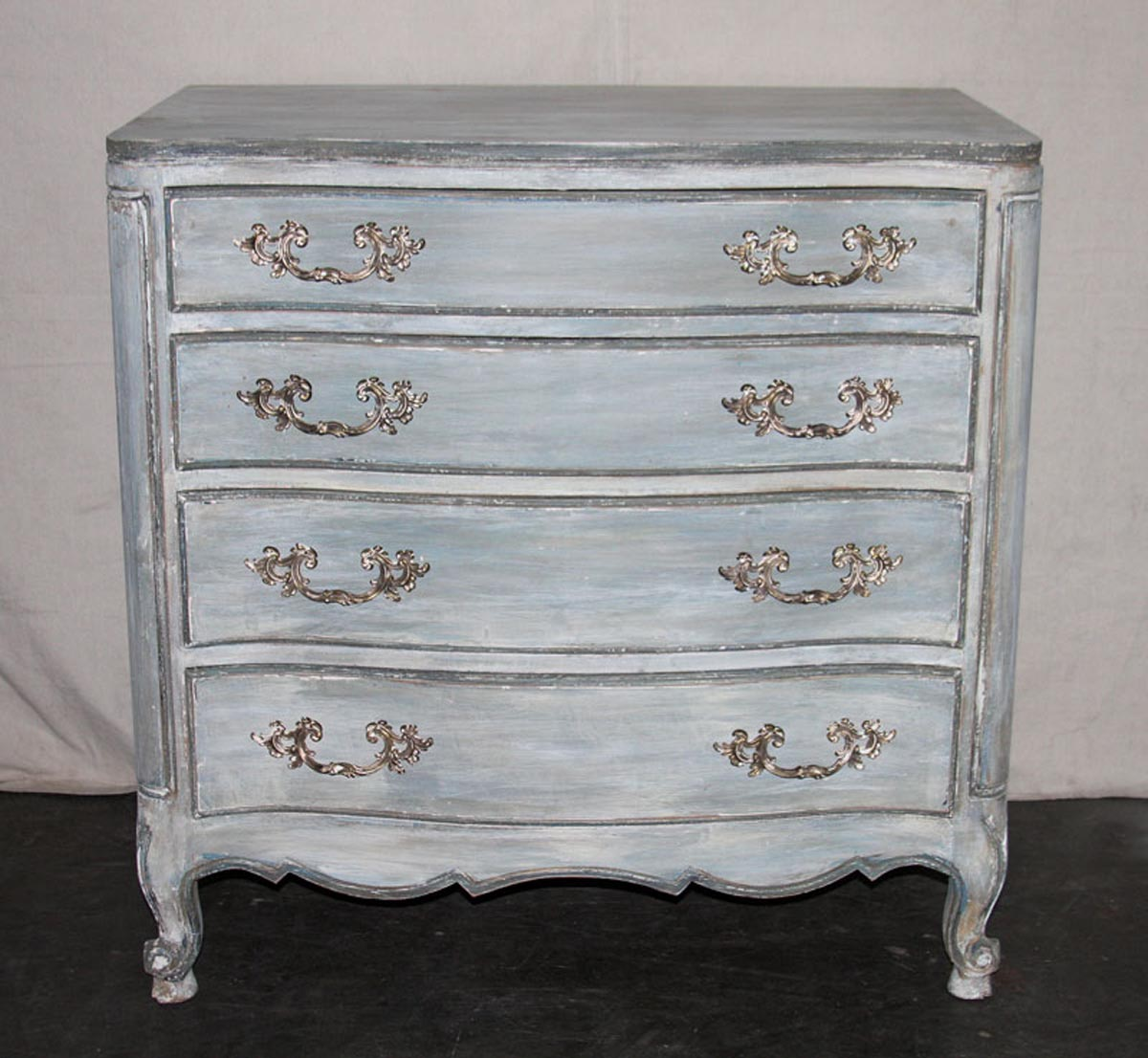 Vintage American Painted Wood Chest