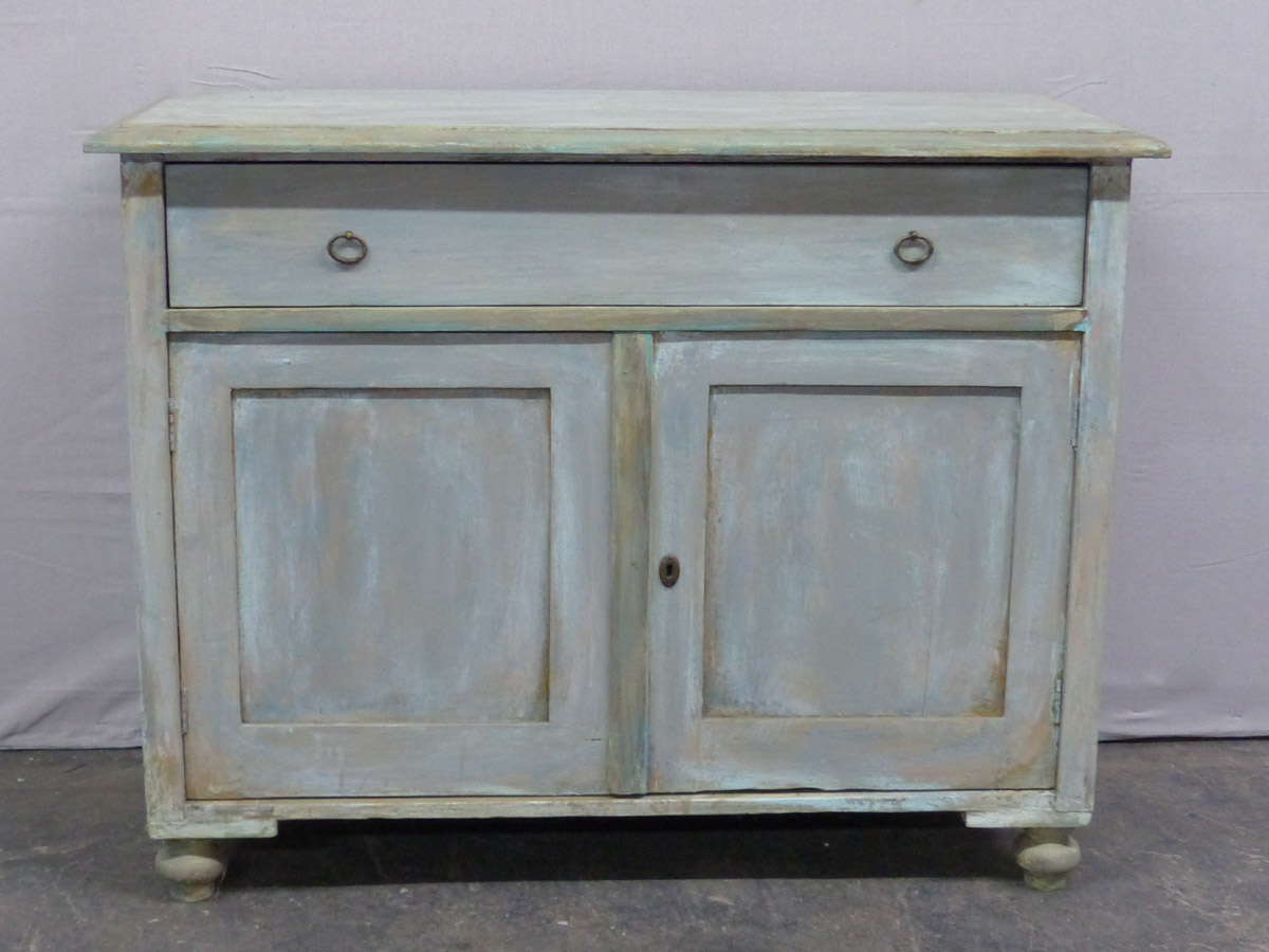 An Antique Painted Wood Buffet