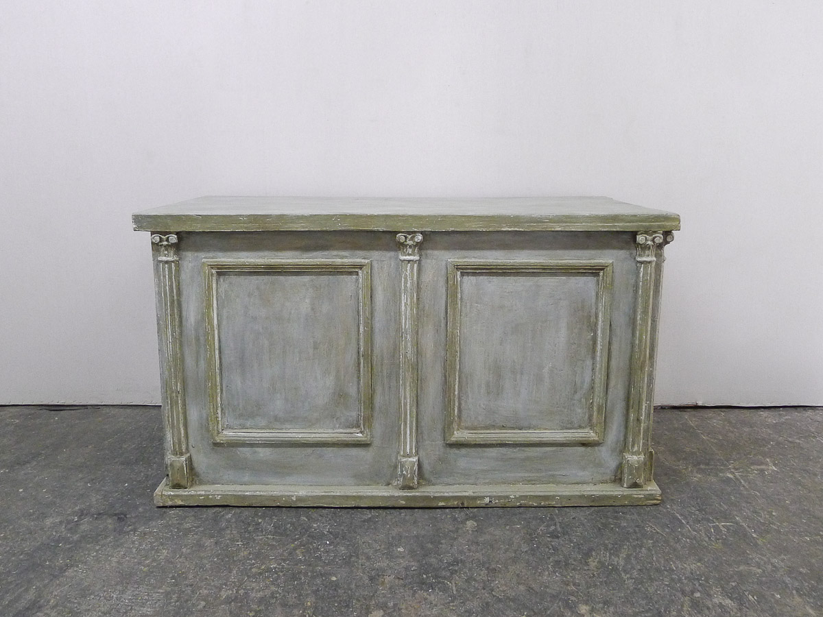 French Painted Wood Kitchen Island, 19th C.