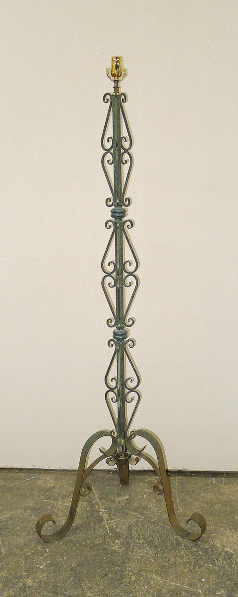 Vintage Scroll Motif Floor Lamp, France