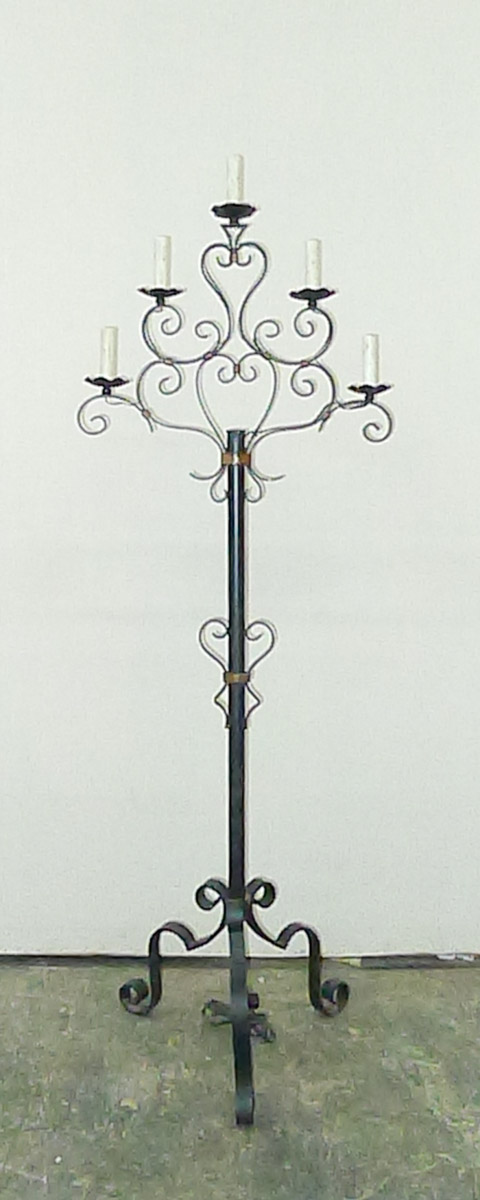 French Candelabra Floor Lamp, Wired