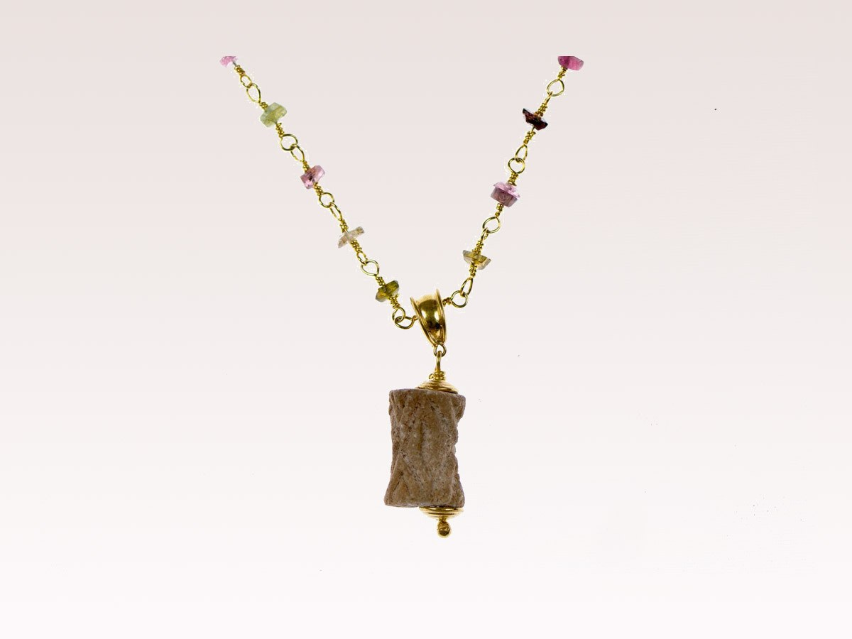 Mesopotamian Stamp Necklace