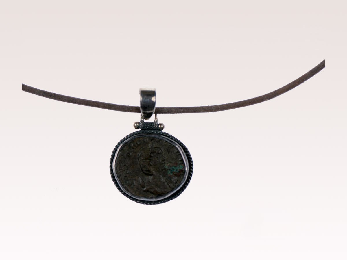 Roman Bronze Coin Necklace
