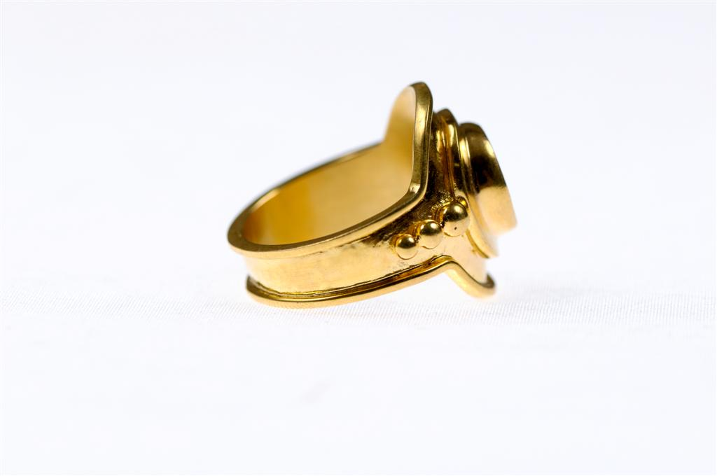 22K Greek Coin Ring, Size 8 : 0017 : A. Tyner Antiques