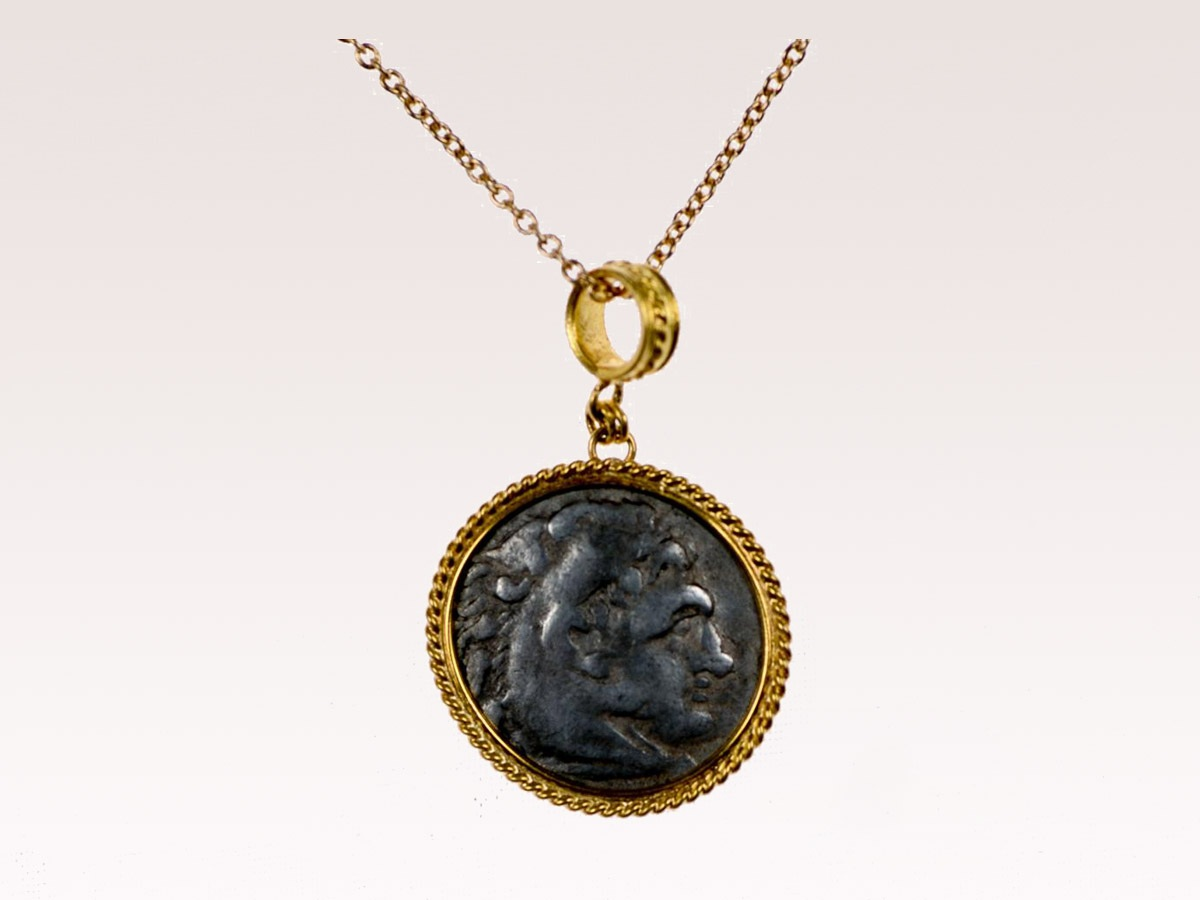 Greek 4th Century BC Coin Pendant