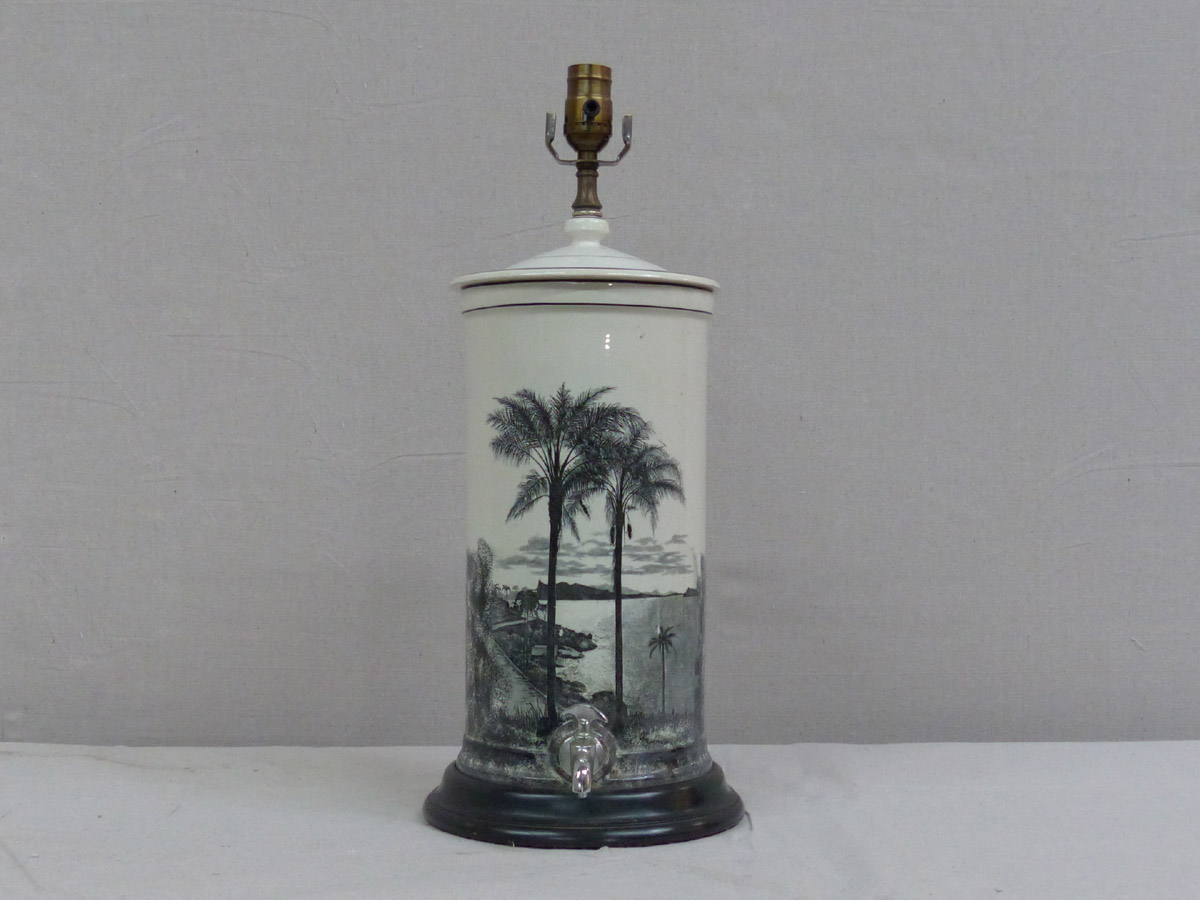 Vintage Tea Caddy Lamp, Rewired