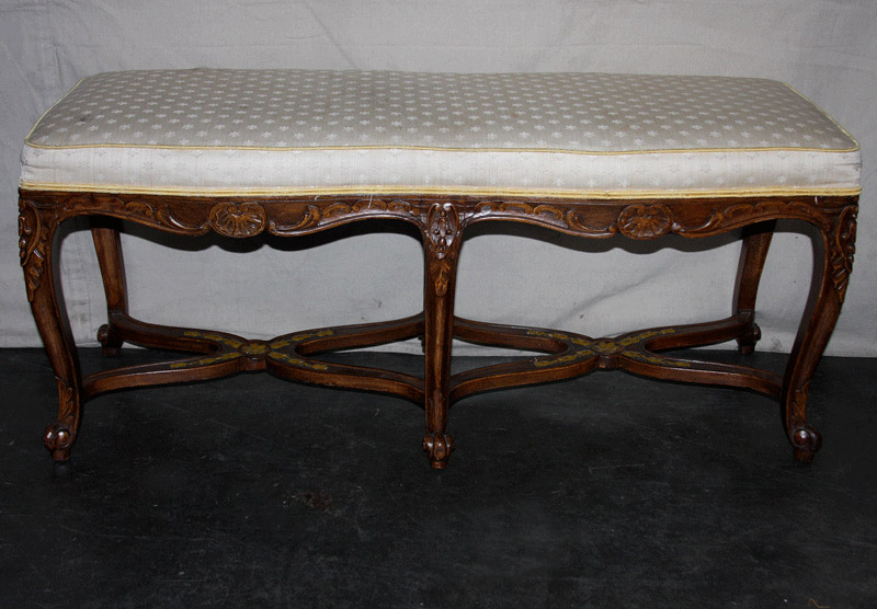 French Antique Louis XV Style Bench