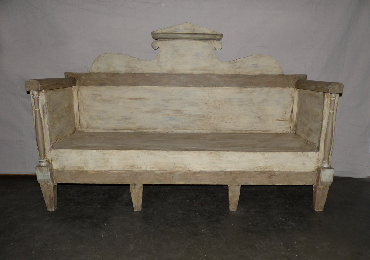 Swedish Karl Johan Painted Wood Sofa