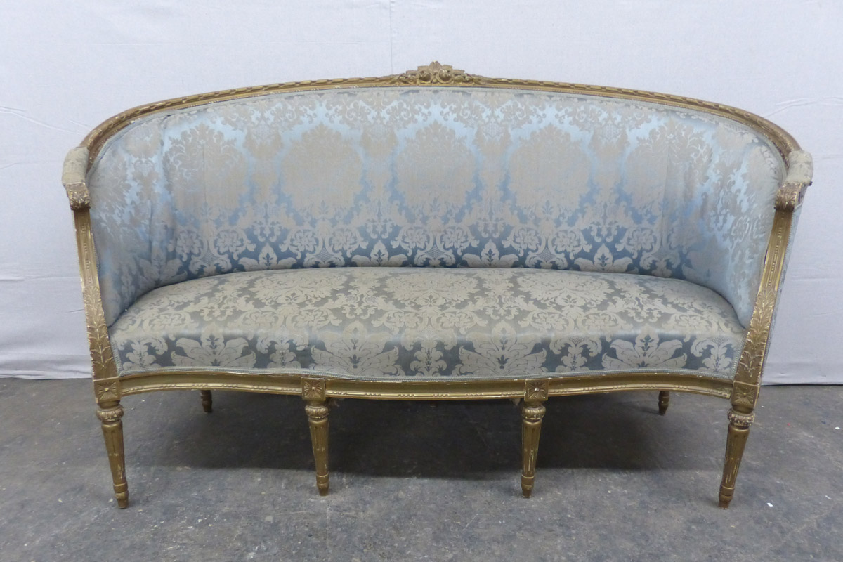 French Louis XVI Style Tub Sofa