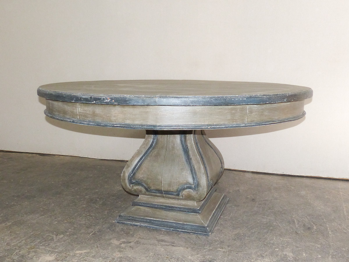 "60"" Round Carved Pedestal Table"