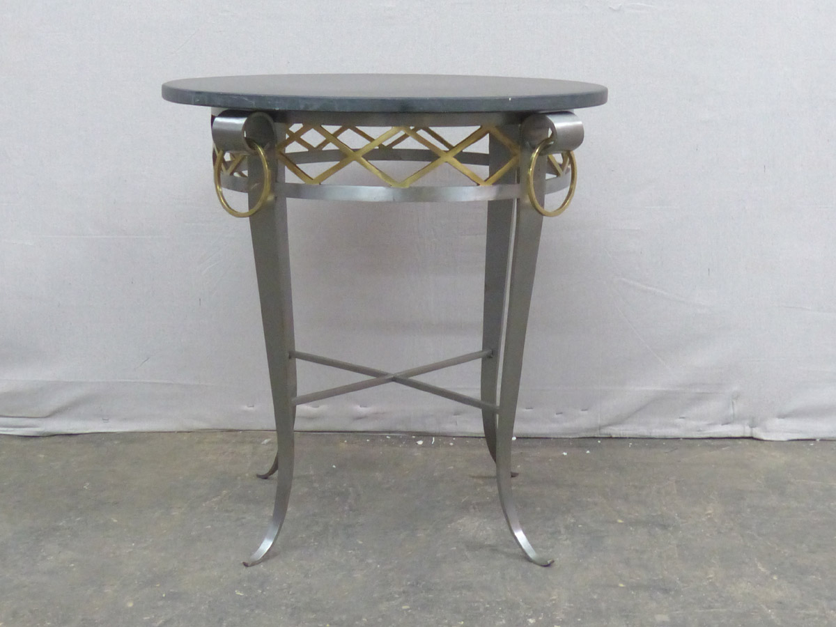 Round Occasional Table w/Black Stone Top