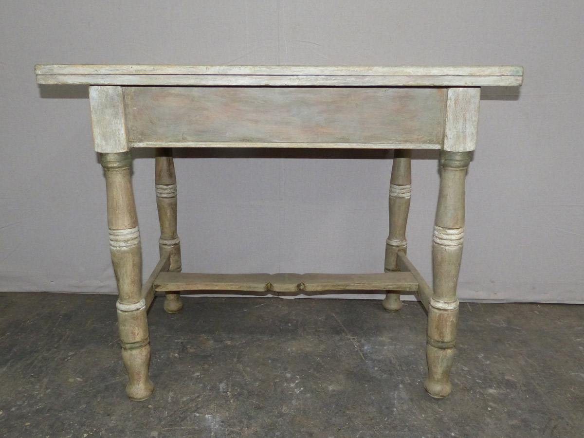 Antique European Painted Fold-Top Table