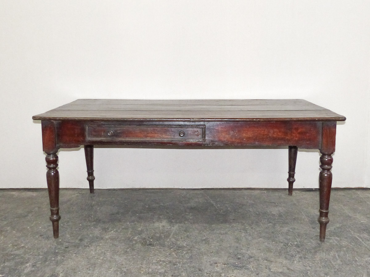 19th Century Farm Table w/Single Drawer