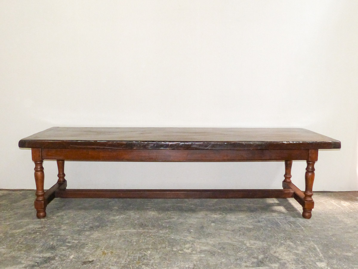 French 19th C. Monastery Table, 9.5 Ft