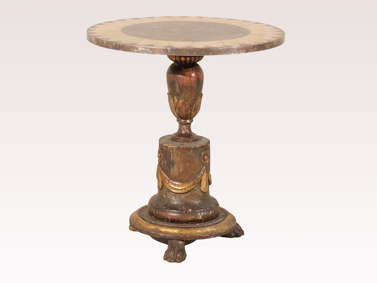 Italian Round Occasional Table
