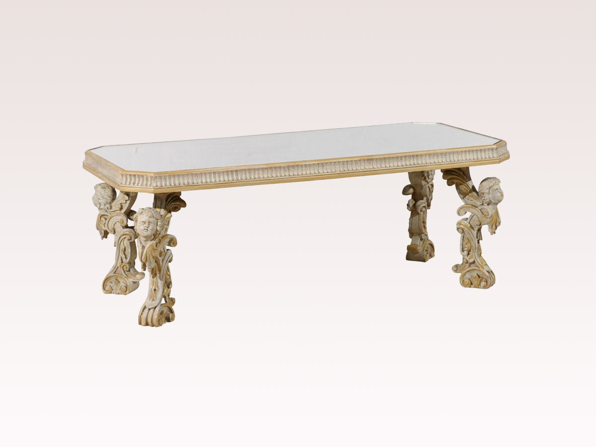 Italian Mirrored Coffee Table