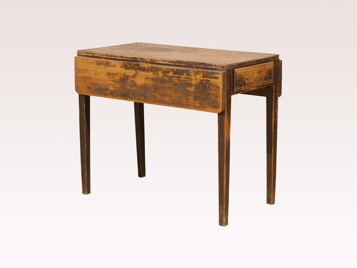 19th Century Swedish Drop-Leaf Table